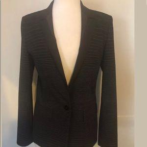 Hugo Boss Women Blk W/Stripes Long Sleeves Blazer